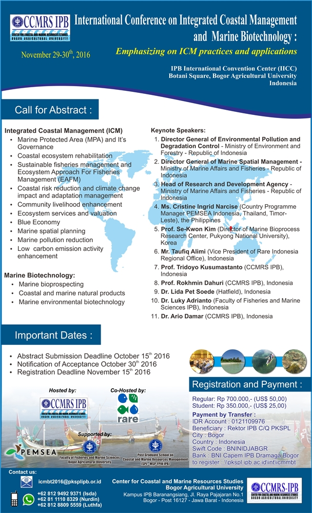The Speakers invitation of International Conference ICM-MBT 2016