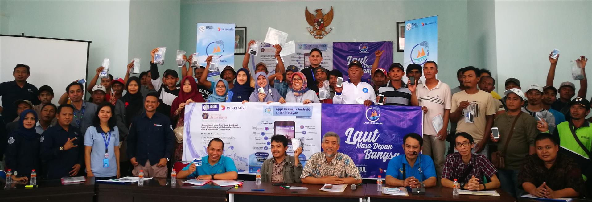 "Sosialisasi ""Laut Nusantara"", Aplikasi Maritim Berbasis Android untuk Nelayan"