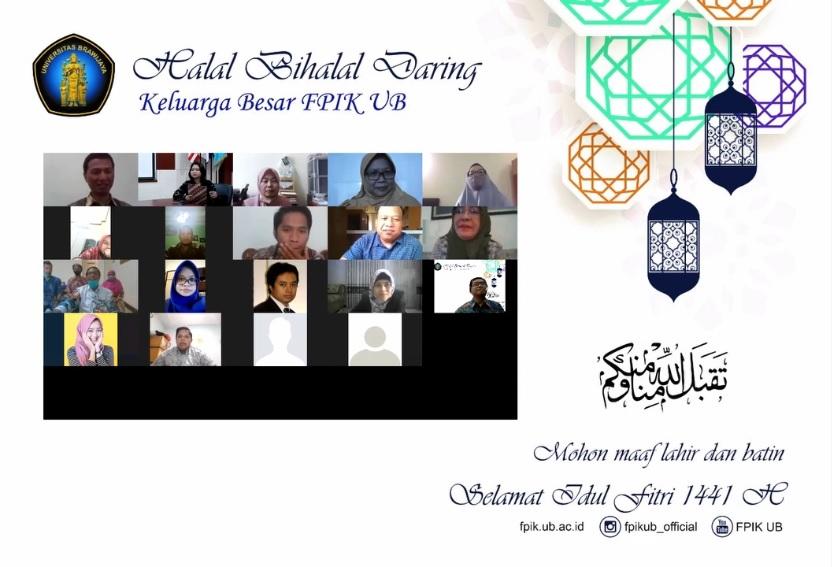 Halal Bihalal Daring FPIK UB dalam Rangka Merayakan Idul Fitri 1441 H