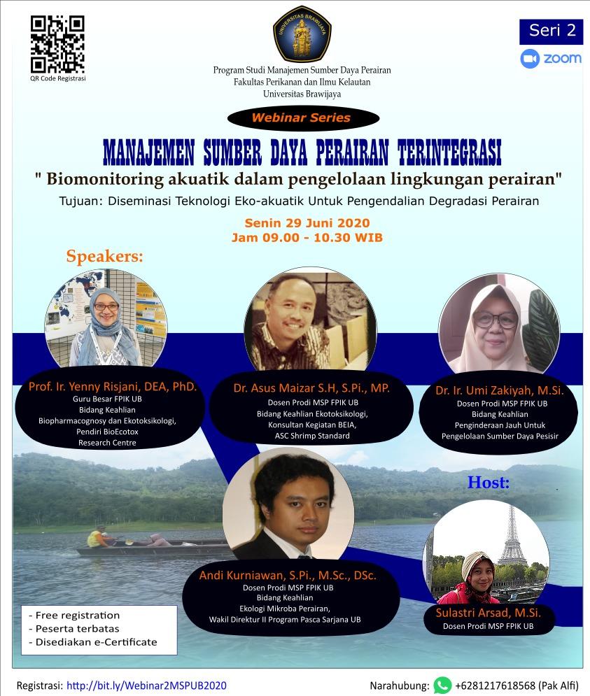 Webinar MSP #2 : Biomonitoring Akuatik Dalam Pengelolaan Lingkungan Perairan