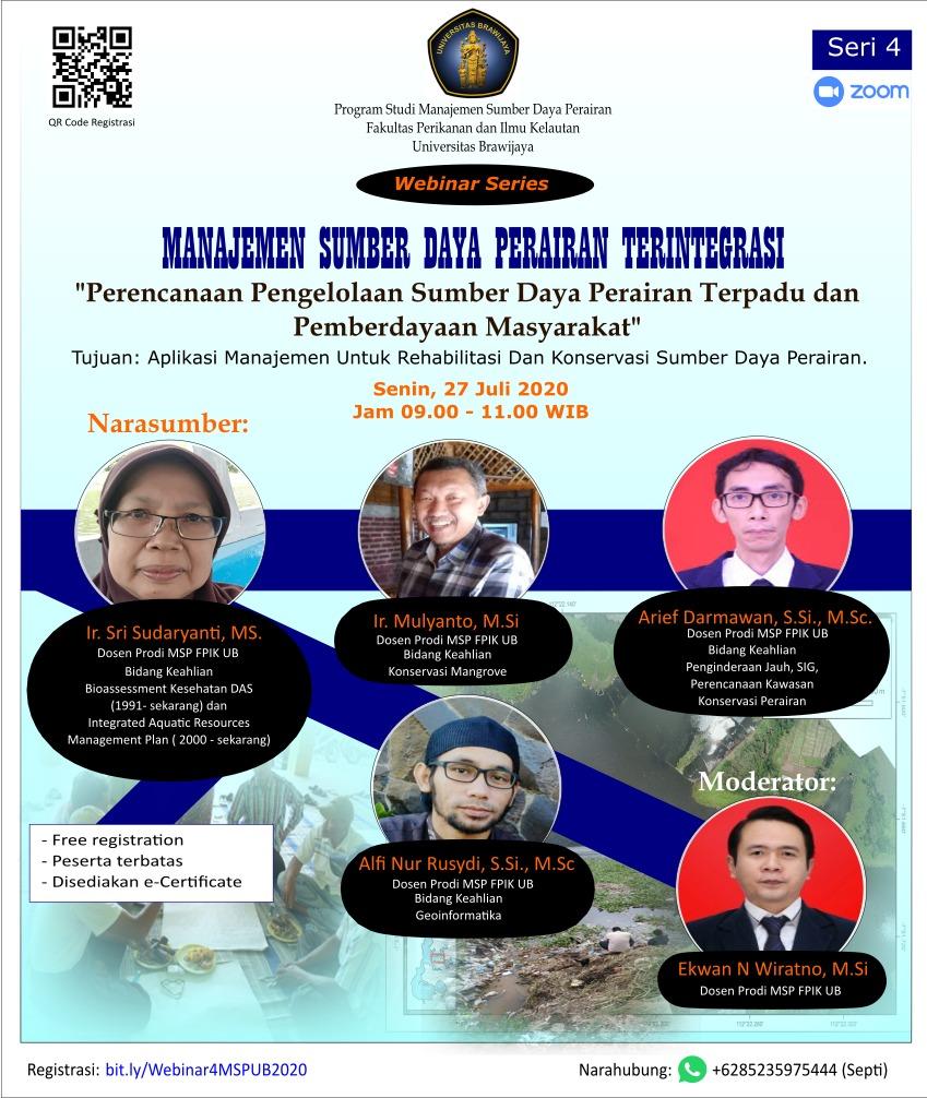 Webinar MSP #4: Konsep dan Teknologi untuk Pengelolaan Sumberdaya Perairan Terintegrasi