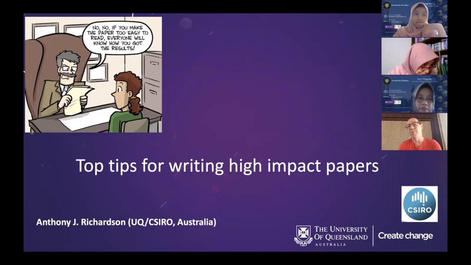 Webinar Top Tips for Writing Scientific Papers High Impact Journals