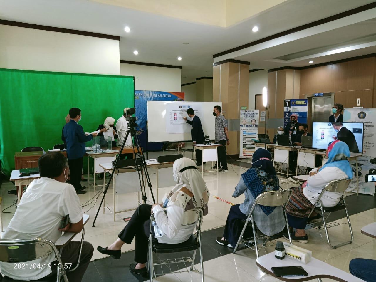 Hasil Penjaringan Suara Calon Dekan FPIK UB Periode 2021-2025, Prof. Maftuch Unggul Tipis 8 Suara