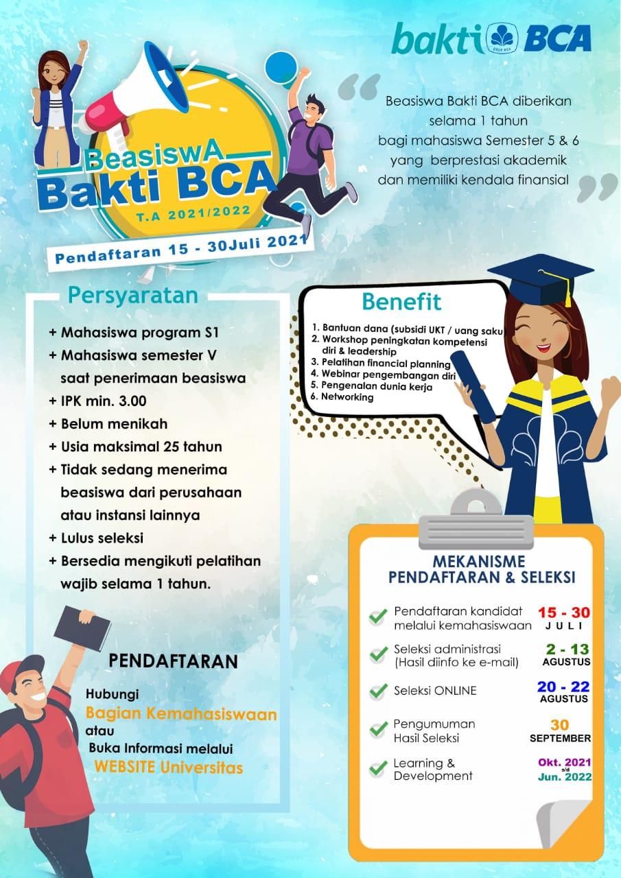 Beasiswa Bakti BCA 2021-2022